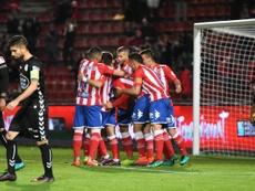 Victoria del Girona con remontada. GironaFC