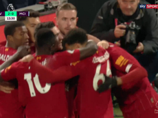 O segundo do Liverpool é um prêmio a eficiência. Captura/SkySport
