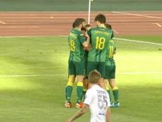 El Torpedo Zhodino se aleja del liderato. Captura/Youtube/Belarusian Football Federation