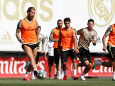 El Madrid se prepara para el regreso de LaLiga. Twitter/RealMadridCF