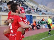 El Real Murcia se estrella ante El Ejido. Twitter/RealMurcia