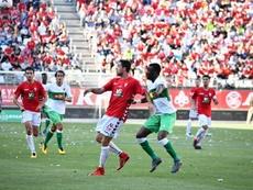 El Elche venció gracias a un gol de Benja. Twitter/realmurciacfsad/artemio_rmu