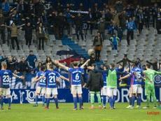 La pretemporada del Oviedo dio comienzo sin cuatro jugadores con contrato. LaLiga/Archivo