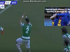 Os atletas do Sporting CP a festejarem como Ronaldo. Youtube/BeIN