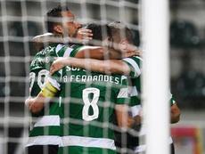 El Sporting de Portugal venció al Paços de Ferreira. EFE