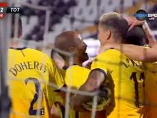 Tottenham quase perde na fase prévia da Liga Europa. Captura/DiemaSport