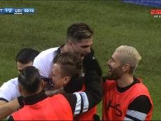 El Udinese fue el primer equipo que frenó en seco al Inter. Twitter/ESPN