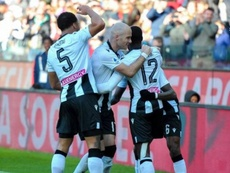 El Udinese venció. Twitter/Udinese_1896