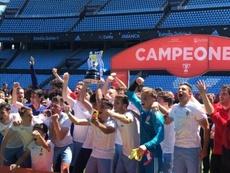 El Zaragoza conquista su primera Copa de Campeones. Twitter/RealZaragoza