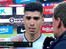 Olaza elogió a Messi. Twitter/MovistarFutbol