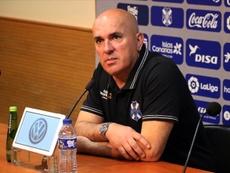 Sampedro espera ganar al Oviedo. Twitter/CDTOficial