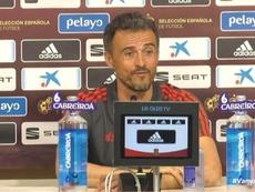 Luis Enrique, en rueda de prensa. Captura/SeFutbol