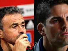 Luis Enrique volvió al puesto para quitar a Robert Moreno. EFE/AFP