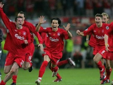 Gerard led Liverpool to 2005 CL success. AFP