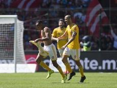 Quiñones hizo el único gol del partido. Twitter/Tigres