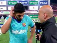Luis Suárez ressaltou a importância de haver uma autocrítica da equipe. Captura/Twitter/MovistarFutb