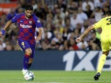 Um setor do Camp Nou vaiou Luis Suárez. Twitter/FCBarcelona_es