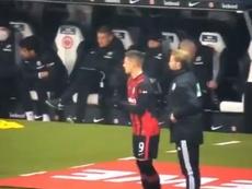 Jovic, suplente en su vuelta a la Bundesliga, Captura/SkySport