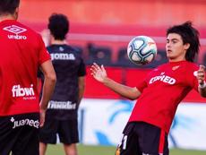 Luka Romero anotó su primer tanto con el Mallorca. EFE/Archivo