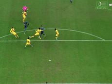 Lukaku manteve as esperanças da Inter de Milão. Captura/MovistarLigadeCampeones