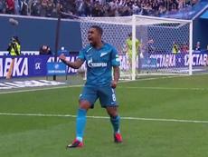Malcom marcó casi un año después en la goleada del Zenit. Captura/Youtube