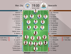 Man City v Newcastle. Premier League 2019/20. Matchday 34, 08/07/2020-official line.ups. BESOCCER