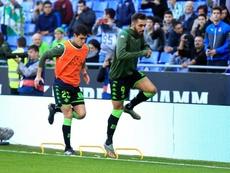 Borja Iglesias fue duramente pitado por su salida del Espanyol al Betis. Twitter/RealBetis