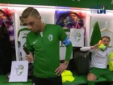 Joaquín, en el 'Mannequin Challenge' de la Selección Andaluza. ChampionsForLife