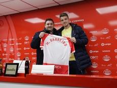 Manu Barreiro puso dinero para firmar por el Luego. Twitter/CDeportivoLugo