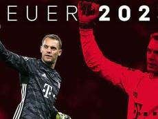 Manuel Neuer renovou com o Bayern até 2023. Twitter/FCBayern