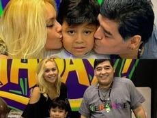 Maradona celebró los seis años de Diego Fernando junto a su esposa. Instagram/Maradona