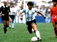 Maradona relembrou a Copa do Mundo de 1990. EFE