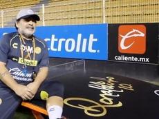 Maradona pidió a... Ronaldinho. Captura/Dorados