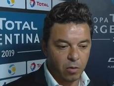 Gallardo reconoció fallos en los últimos partidos. Captura/CopaArgentina