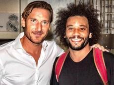 Marcelo compartió foto con su ídolo. Instagram/Marcelo