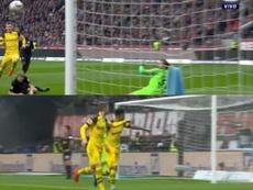 Reus a marqué le but du 0-1 lors du Francofrt-Borussia Dortmund. Capture/FOXSport