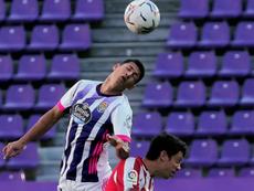 Marcos André no dio crédito tras empatar ante el Levante. EFE