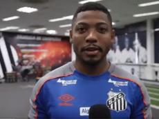 Gol de Marinho abriu o placar para o Santos contra o Red Bull Bragantino. DUGOUT