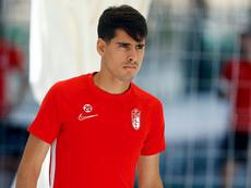 Mario Rodríguez debutó al fin. Twitter/GranadaCdeF