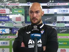 Dmitrovic explicó su penalti lanzado que abrió la lata. Captura/MovistarLaLiga