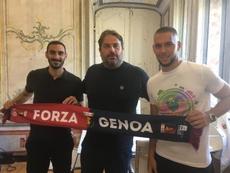 Marko Pjaca y Davide Zappacosta, nuevos jugadores del Genoa. Twitter/GenoaCFC