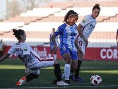El Málaga Femenino cayó con estrépito. Twitter/MalagaCFemenino