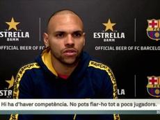 Braithwaite compte bien rester au Barça. Captura/TV3