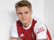 Odegaard in prestito all'Arsenal. Twitter/Arsenal