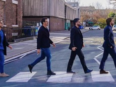 Los Beatles de Milán se hicieron virales. Instagram/massimoambrosini