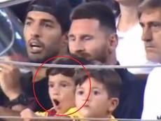 Messi se engana e comemora o que não devia. Twitter