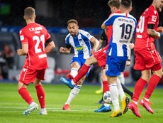 Matheus Cunha marcou o terceiro gol do Hertha na goleada sobre o Union. Twitter/HerthaBSC_ES