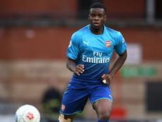 Mavididi is an England youth international. Twitter/ArsenalFC