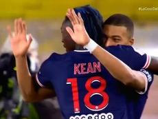 Mbappé voltou com doblete nos primeiros 45 minutos. Captura/Vamos