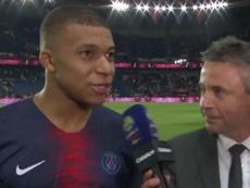 Mbappé garantiu que continuará no PSG. Captura/Canal+